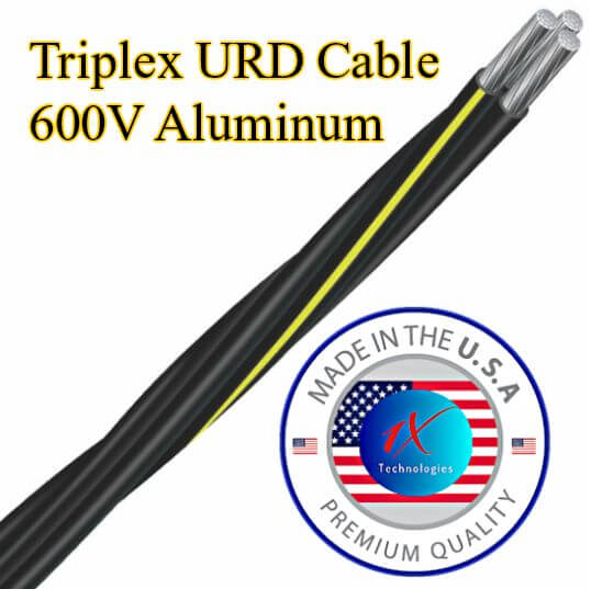 Triplex URD Cable [ 600V Direct Burial Underground Service Cable ]