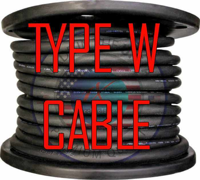 Type W Cable Price, Type W Cable Ampacity, Type W Cable Southwire, Type W Cable GEneral Cable, Type W Cable TF, Type W Cable Priority, Type W Cable Anixter, Type W Cable A-Z. Type W Cable 500-3. Type W Cable 500-4, Type W Cable 500-5C