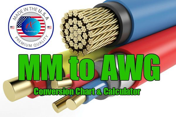 Mm To Awg Wire Size Conversion Chart Table Calculator Pdf