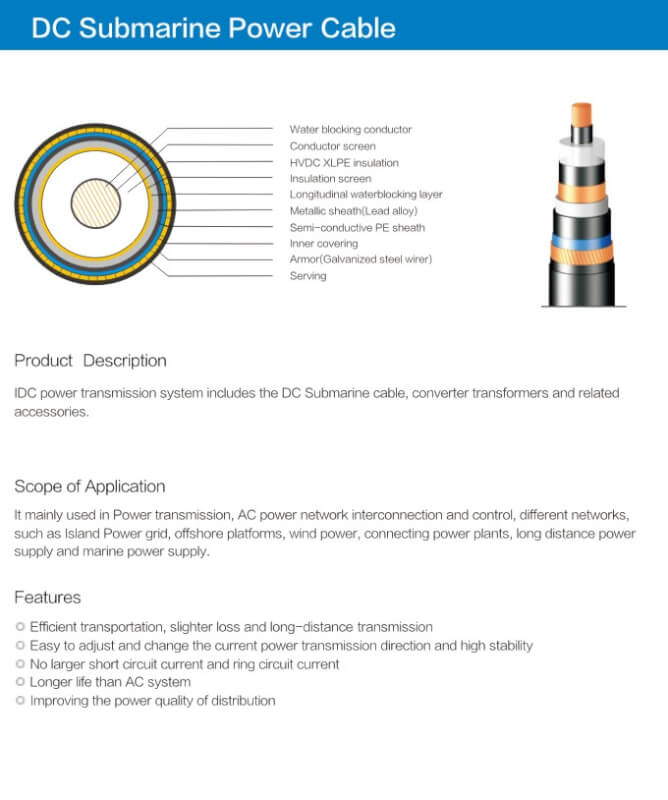 DC Submarine Power Cable